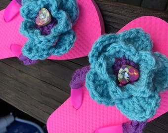 Girls Flip Flops, Girls Sandals, Flower Flip Flops, Summertime Sandals, Pink Flip Flops