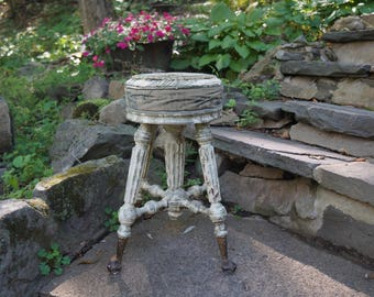 Antique Shabby Chic Piano Stool