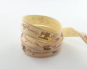 Ribbon 15 mm sewing cotton twill