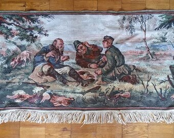 Vintage wall rug vintage gobelin carpet tapestry wall collectible tapestry Home Decor gift collectible Vintage decor wall carpet textile rug