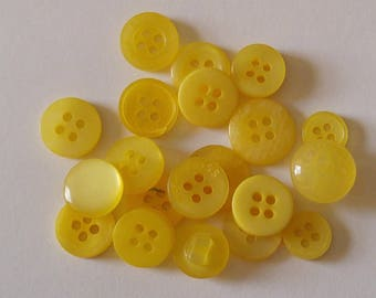 20 Yellow Colored Button  - #PDSP-00007