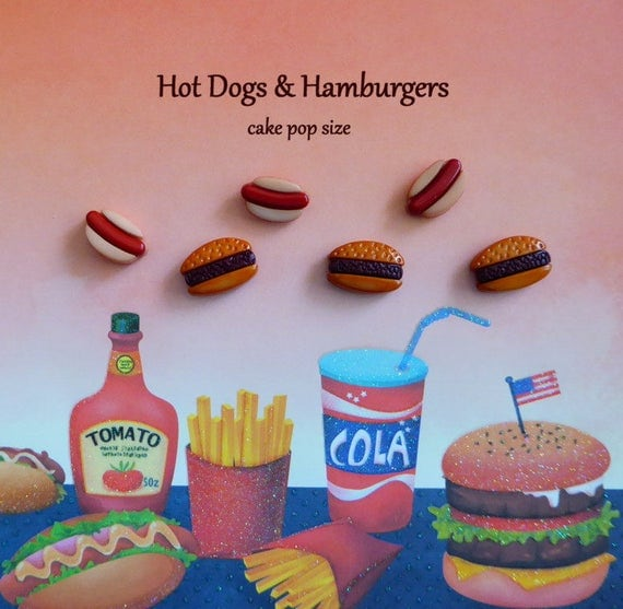 Dog Safe Cake Decorations : Hot Dog Hamburger Silicone Mold Cake Tool Fondant Chocolate