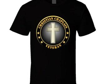 Army - Christian Chaplain Veteran T Shirt