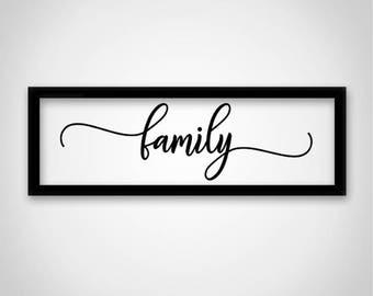 Fancy family SVG File: Silhouette Cameo, Cricut, Cut File, DFX SVG Stencil