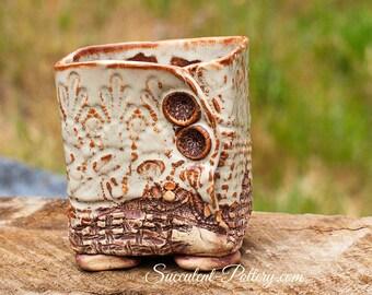Handmade Succulent Pottery, Succulent Garden, Succulent Love, Succulent Pottery, Handmade USA, Succulent Planter, Pottery by Donna