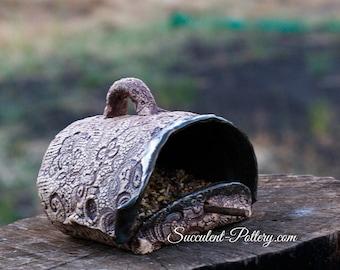 Bird Feeder, Handmade, Succulent Pottery, Bird Watching, backyard bird feeder, Bird Lover, Bird Watcher, Wild Bird Feeder, Wild Birds