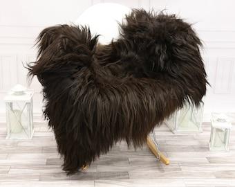 Icelandic Sheepskin | Real Sheepskin Rug | Chocolate Brown Sheepskin Rug | Fur Rug | #islsept4