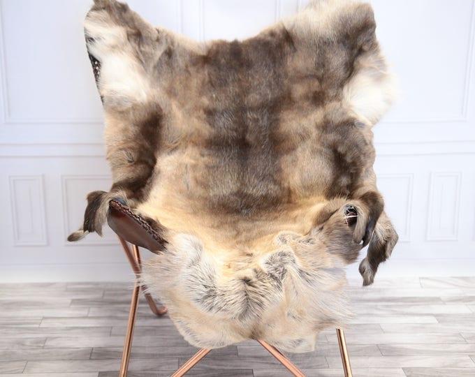 Reindeer Hide | Reindeer Rug | Reindeer Skin | Throw L  Large - Scandinavian Style #20RE15