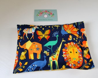 Heating pad with cotton, organic flax seeds, origami animals to order