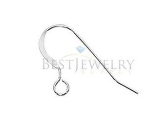 1 Pair 2 Pcs. Sterling Silver .925 0.64mm 22 GA Round Ear Wire Earring Findings