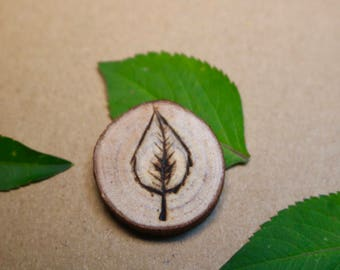 Leaf Wood Diffuser Necklace for Essential Oils