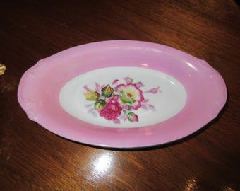 PINK FLORAL DISH