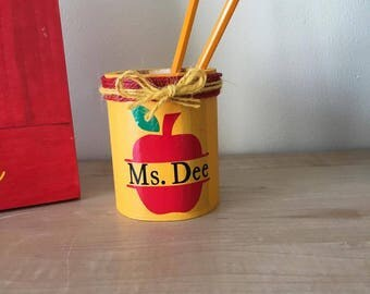 Teacher's gift - Teacher's Pencil Cup - Teacher - School Gift - Classroom Gift