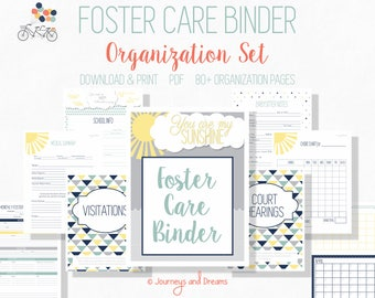 Foster Care Organization Binder . 80+ Pages! .  8.5x11 . PRINTABLE . DIGITAL DOWNLOAD . You Are My Sunshine Series