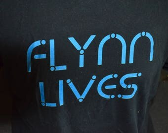 Vintage Disney's Tron Flynn Lives Graphic T-Shirt (Size: L)