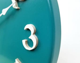SIlent wall clock. Contemporary wall clock. Colorful wall clock. Modern wall clock. 11 inch kitchen clock.  CL5033