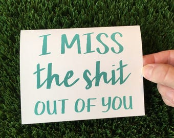 I miss you card - Long distance Relationship card - I love you card - Funny relationship card - Funny I miss You Card