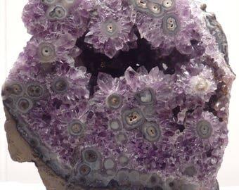 "Amethyst Rock Crystal Table Lamp ""Flora"" -- Crystals// Lamp//Gemstone Lamp//Mineral Lamp//Geode Lamp"