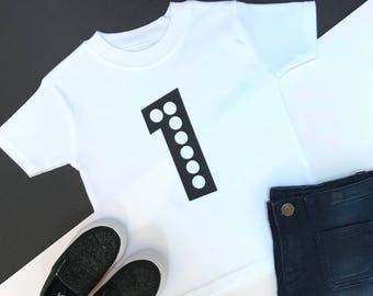 Black and White Baby Girl 1st Birthday Outfit | One Year Old | First Birthday Outfit Girl | 1st Birthday tshirt |  Glitz 1