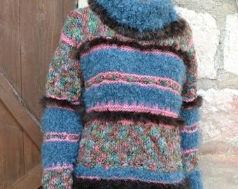 KNIT Turtleneck tunic sweater