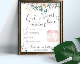 Wedpics Sign, Wedpics Wedding Sign, Destination Wedding, Wedding Sign, Wedpics, Beach Weddings, Tropical Wedding, Wedding Signs, Floral