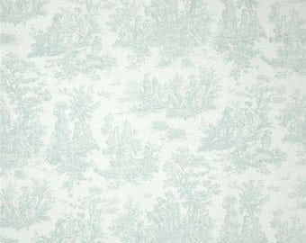 Summer SALE Scalloped Valance 52 x 16 50 x 16 window valances Jamestown toile snowy blue white toile valance Kitchen Valance lined valance