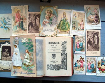 Antique French bible in excellent condition with lots of extras     dated approx 1910 1920  MISSEL ROMAIN LIMOGES