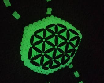 Flower of Life Kandi Mask (glow in the dark)