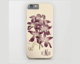 Custom Device case, iPhone 5/5s, iPhone 6/ 6s, iPhone 7/ 7s, Samsung, Galaxy, Phone, Orchid, Botanical, Custom, Nature, Gift, Christmas
