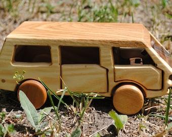 Car toy-Car-wooden car toy-wood car-waldorf car-VOLKSWAGEN Transporter car-Transporter car-automobile toy