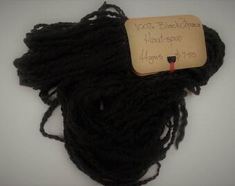 Art Yarn - Black alpaca undyed