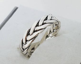 Engagement rings,Viking  ring 10k, Celtic eternity ring,Popular ASGARD ring,Viking braided knot ring.