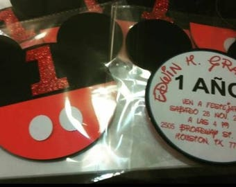 Mickey Mouse Head invitations