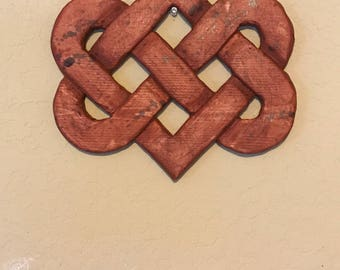 Wood Celtic Knot Heart Celtic Knot Hearts Entwined Celtic Knot Heart Wood Home