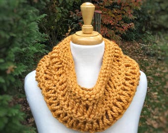 The DARA Slouchy Cowl-Hand knit Wool Blend Scarf-Drop stitch Cowl-22 Colors -Adult and child sizes available- Great mom and child gift