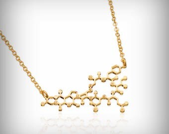 Mother's Day Oxytocin Molecule necklace dainty chemistry molecule jewelry gift for mom new mom necklace newborn mother necklace