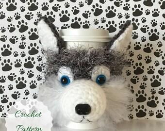 Crochet Dog Pattern, Siberian Husky Pattern, Amigurumi Pattern, Dog Crochet Pattern, Crochet Pattern, Mug Cozy Pattern, Crochet Pattern Dog