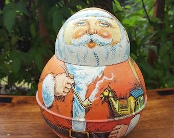 Santa Claus Tin Bristolware 1980