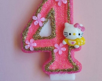 Hello Kitty / Cute /Birthday Candle / Cake Topper / Keepsake / Any Number