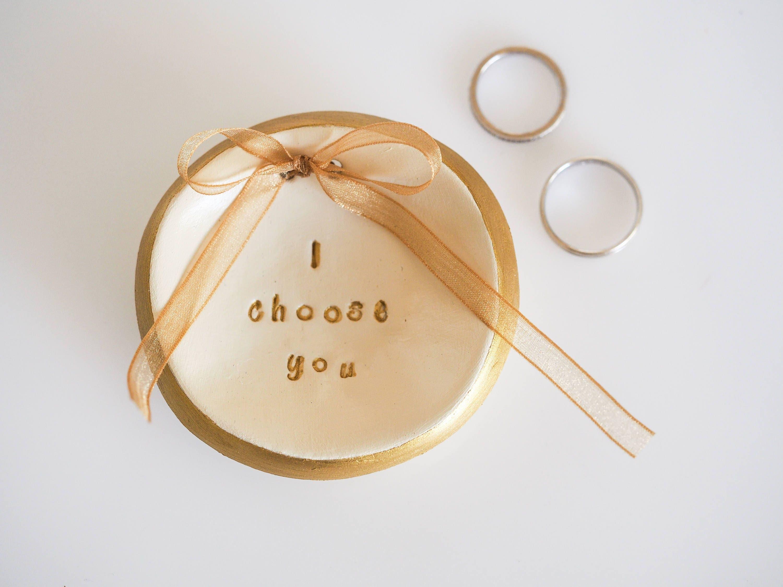 Wedding Ring Dish I Choose You Wedding Ring Holder Ring
