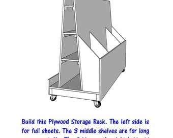 Plywood Storage Rack   - PDF File - Woodworking - blueprint -