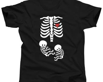 Funny Twin Stuff - Halloween Pregnancy Shirt For Women - Maternity Costume Clothes - Twin Announcement (Unisex and Women's Fit)