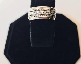 Vintage Sterling Silver Spinner Ring
