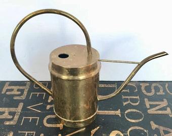 Vintage Brass Watering Can, gardening supplies, plants, succulent supplies, farmhouse decor, mid century, vintage brass, gift for gardener