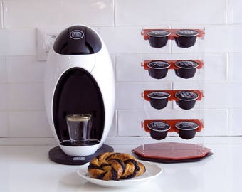 Dolce Gusto Carousel Coffee Pod Holder, Coffee Organizer Rotate Storage Unit, Kitchen Organize, Minimal Design, Kitchen Accessory Decor Gift