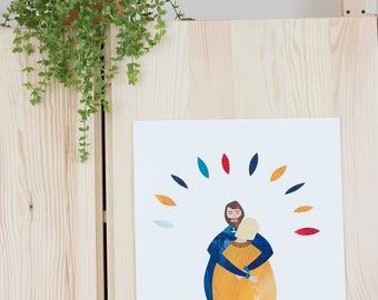 A4 printed illustration | Hug
