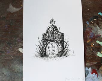 "Grave Plot 13 ""The People in my Head"" - 5"" x 7"" mini - print"