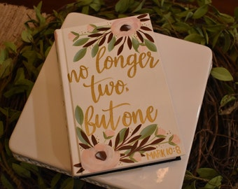 Hand Painted Bibles | Wedding Guestbook | Personalized | Home Decor Keepsake