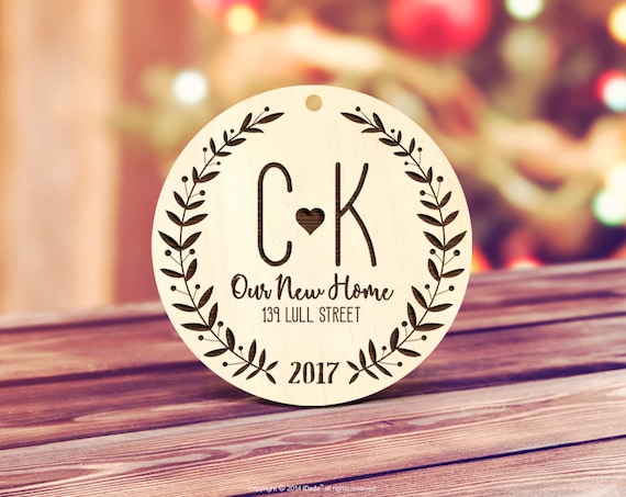 Our new home Christmas ornament Personalized Ornament Personalized Wedding Ornament Engaged Christmas Ornament housewarming gift 19