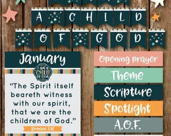 Bulletin Board Pack || Primary 2018 Theme || I Am a Child of God || Digital Package